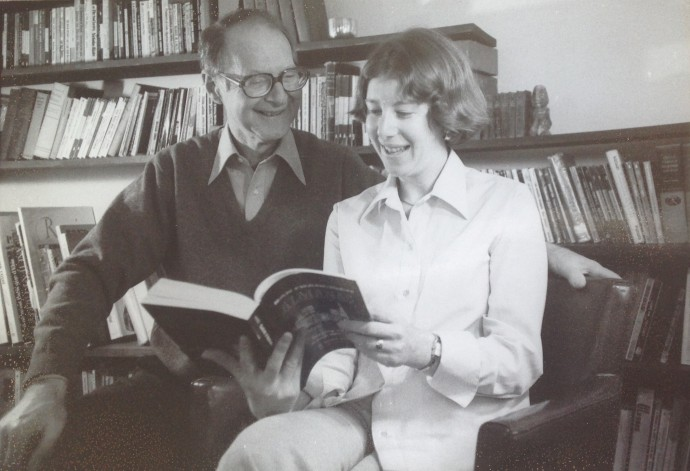 "Ann and her father. Together they authored a book, ""Mental Disabilities And Criminal Responsibility."""