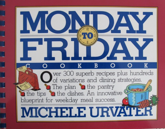 The original Monday-to-Friday Cookbook, which was published in 1991. (Workman).