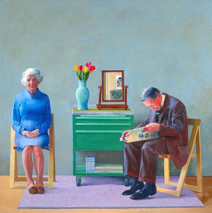 My Parents 1977 by David Hockney born 1937