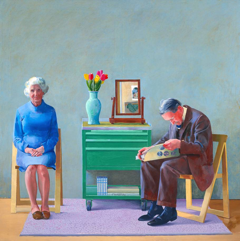 what does it mean to be a mentor small answers my parents 1977 by david hockney born 1937
