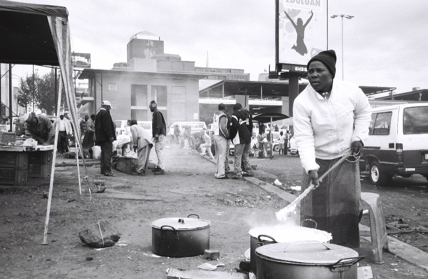 Stew chef at an outdoor market (Johannesburg, South Africa)