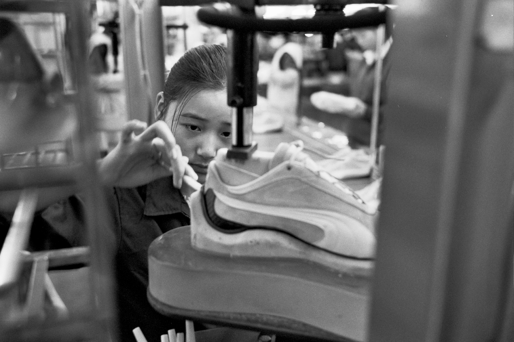 sneaker factory worker