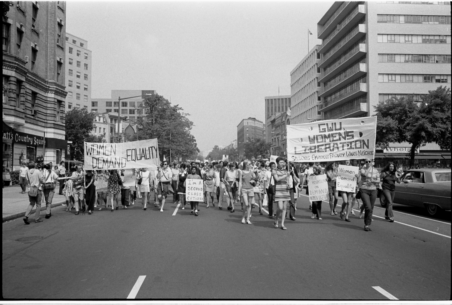 Image of a women's liberation protest by Warren K. Leffler