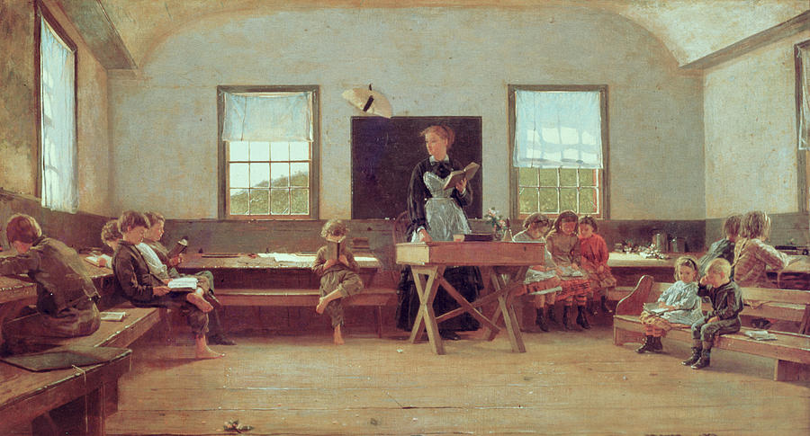the-country-school-winslow-homer