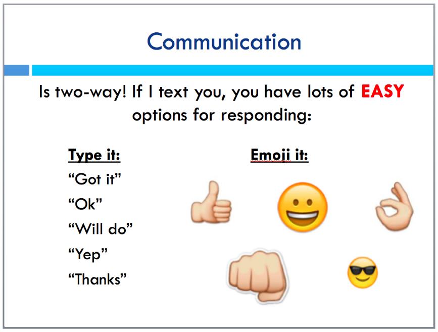 Communication: a two-way (emoji) street